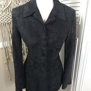 Alberta Ferretti suede black jacket collared